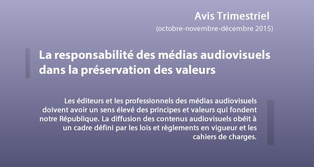 Avis Trimestriel (Octobre-novembre-décembre 2015)